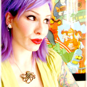 Me & my Futurama poster...looking a little like Leela ;)